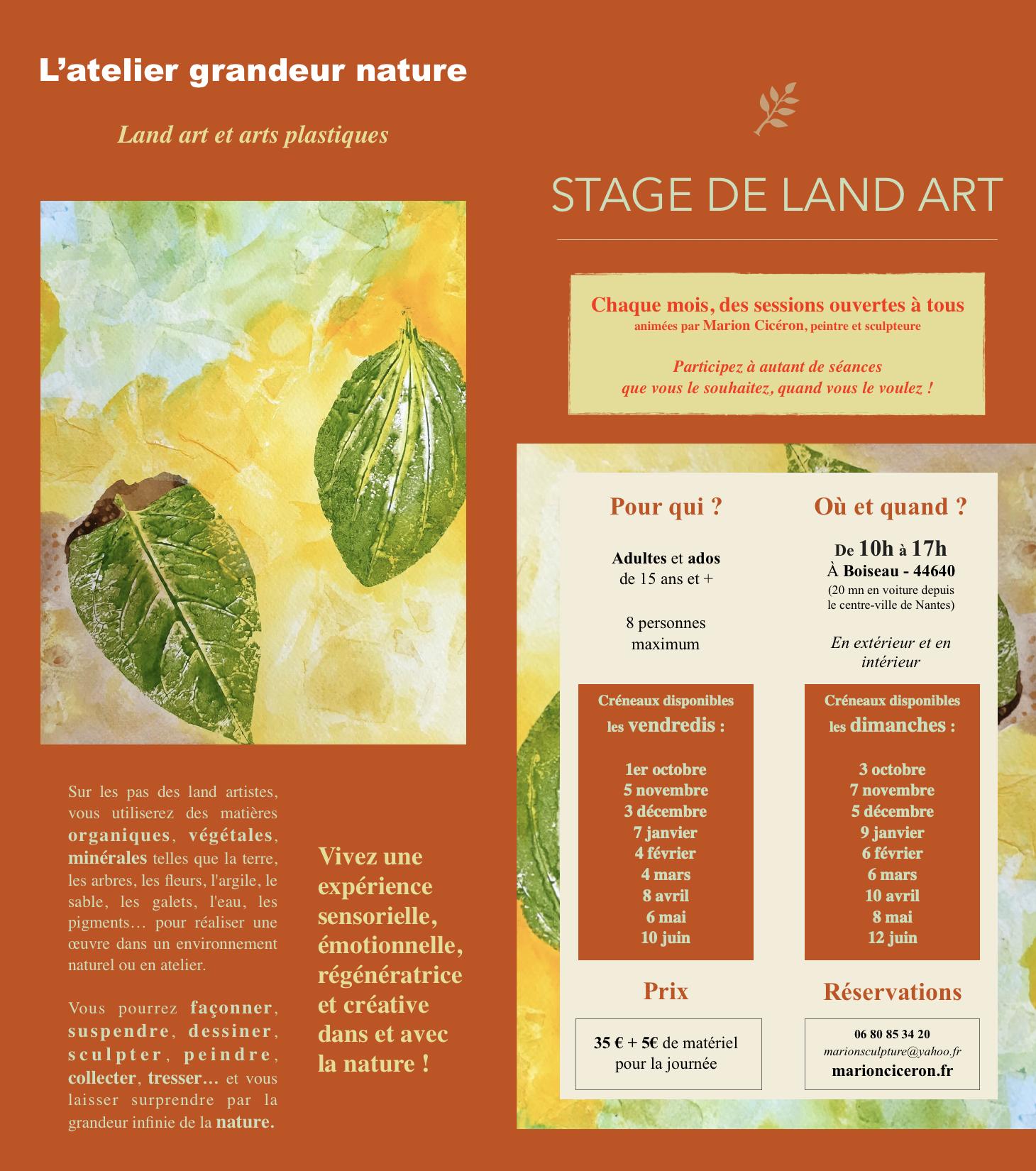 Stage de Land Art 2021-2022